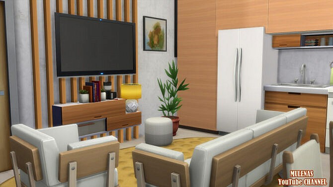 Sims 4 Luxury apartment at Sims by Mulena