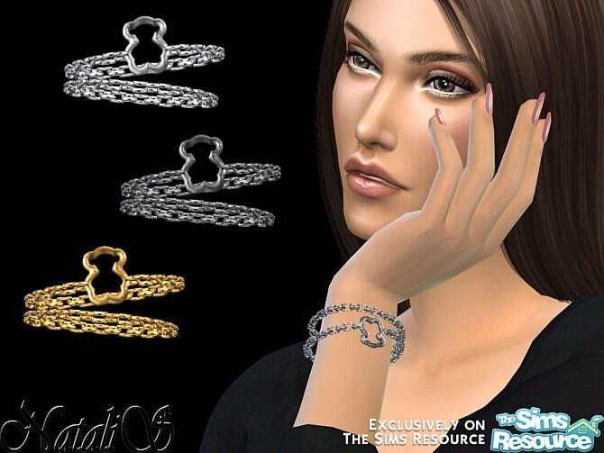 Sims 4 Teddy bear bracelet by NataliS at TSR