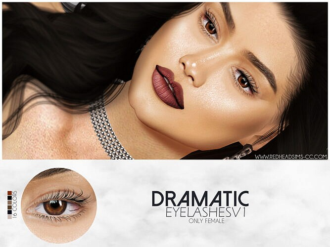Dramatic Eyelashes V1 By Thiago Mitchell