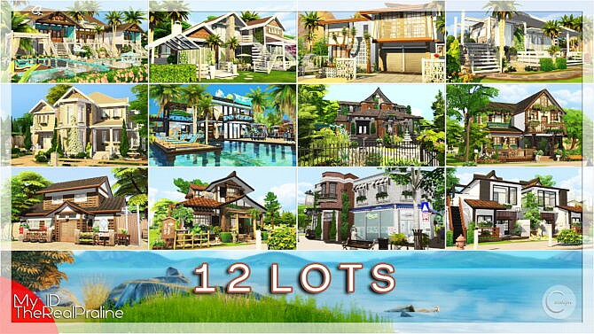 Sims 4 12 Lots (Mini Pack) at Cross Design