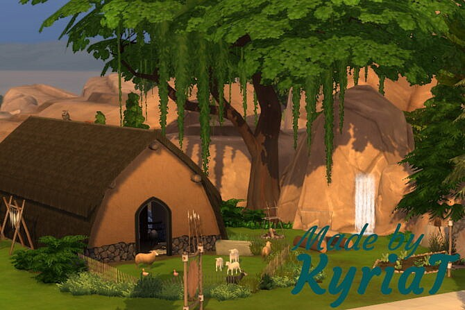Sims 4 Oak View longhouse at KyriaT's Sims 4 World