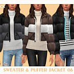 Sweater & Puffer Jacket 06 By Black Lily