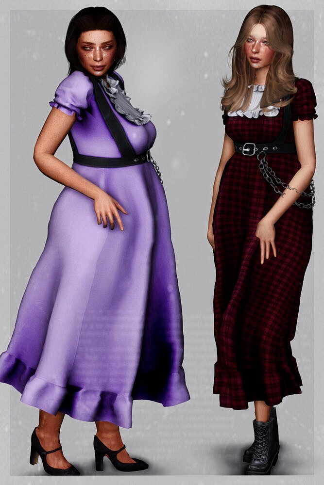 Sims 4 Last Resort Dress at EvellSims