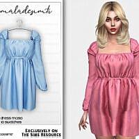 Long Sleeve Dress Mc190 By Mermaladesimtr