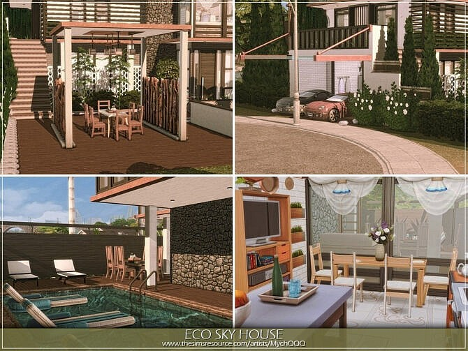 Sims 4 Eco Sky House by MychQQQ at TSR