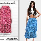 Ditsy Floral Tiered Midi Skirt Mc192 By Mermaladesimtr