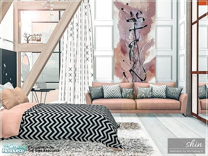 Sims 4 Shin Bedroom by Moniamay72 at TSR