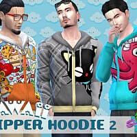 Kawaii Zip Hoodie By Simmiev