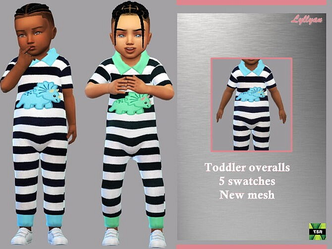Sims 4 Toddler overalls Arthur by LYLLYAN at TSR
