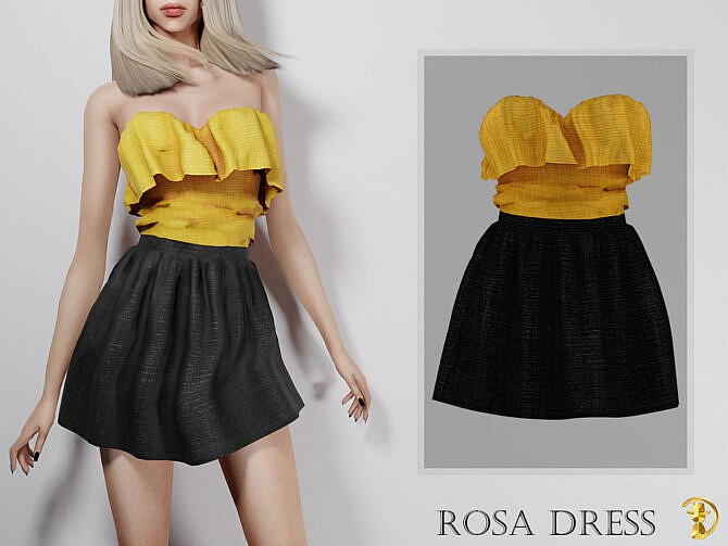 Sims 4 Rosa Dress by turksimmer at TSR