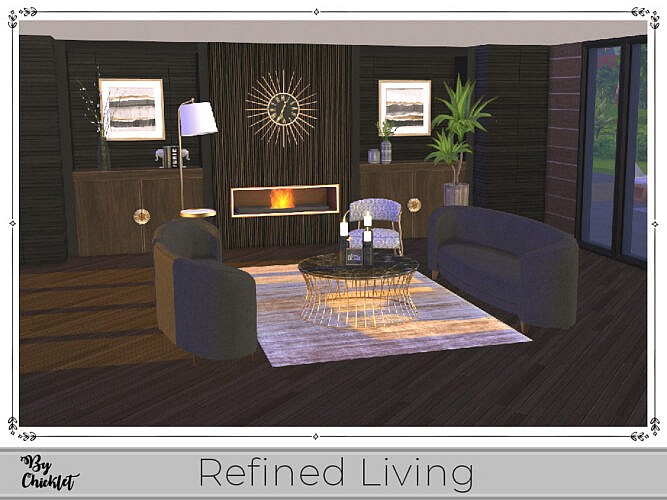 Refined Living Sitting Room By Chicklet
