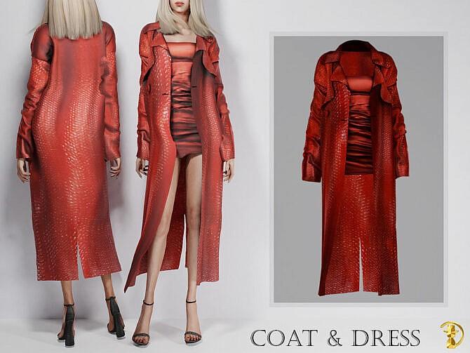 Sims 4 Formal Coat & Dress by turksimmer at TSR