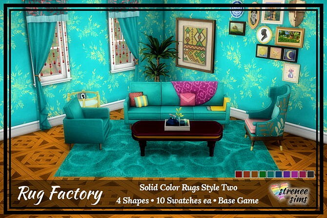 Sims 4 Solid Rugs at Strenee Sims