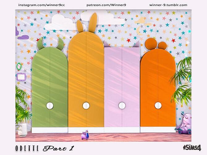 Sims 4 Odette Kidsroom part 1 by Winner9 at TSR