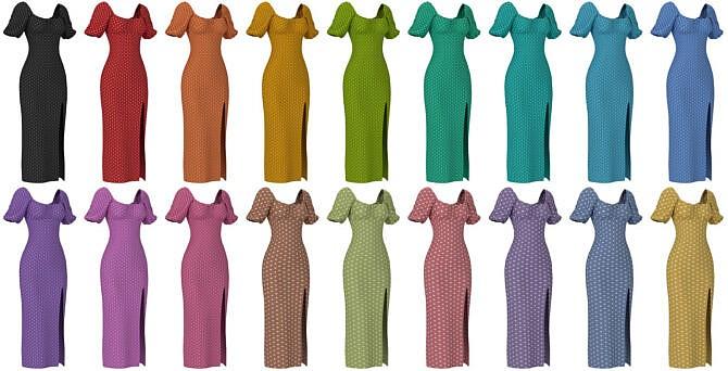 Sims 4 3 dresses set at LazyEyelids