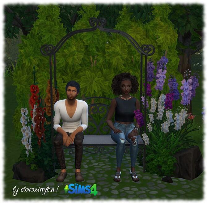 Sims 4 Be my Valentine garden bench by dorosimfan1 at Sims Marktplatz