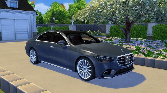 Sims 4 2021 Mercedes Benz S Class at LorySims