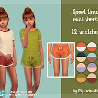 Sport Time Mini Shorts By Mysteriousoo