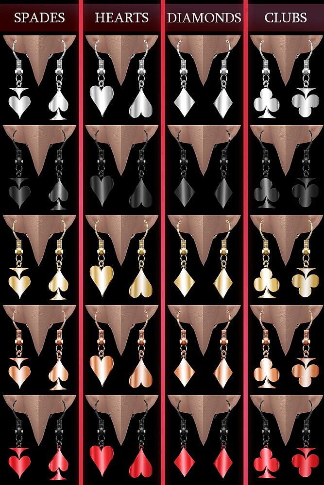Sims 4 SHOWTIME Earring Quartet at Praline Sims