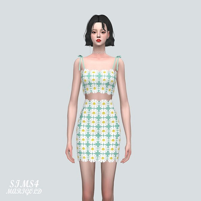 Sims 4 7 Flower Lace 2 Piece at Marigold