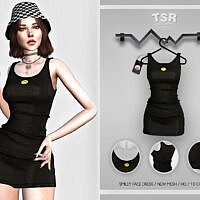 Smiley Face Dress Bd454 By Busra-tr