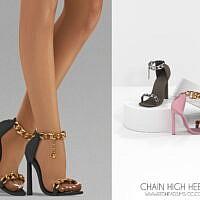 Chain High Heels + Basic Earrings
