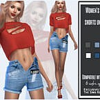 Women's Denim Shorts Unzipped By Sims House