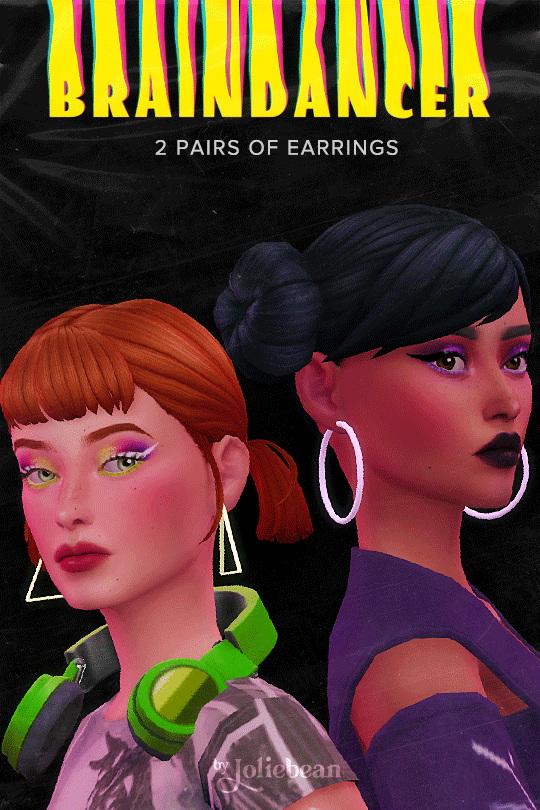 Sims 4 Braindancer Earrings at Joliebean