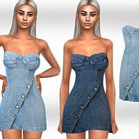 Strapless Denim Dress By Saliwa