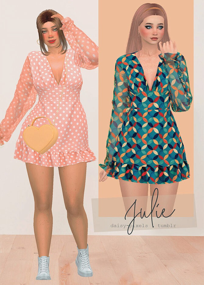 Sims 4 Julie Dress at Daisy Pixels