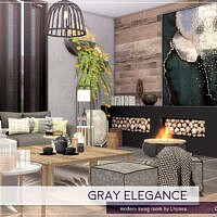 Gray Elegance Living Room By Lhonna