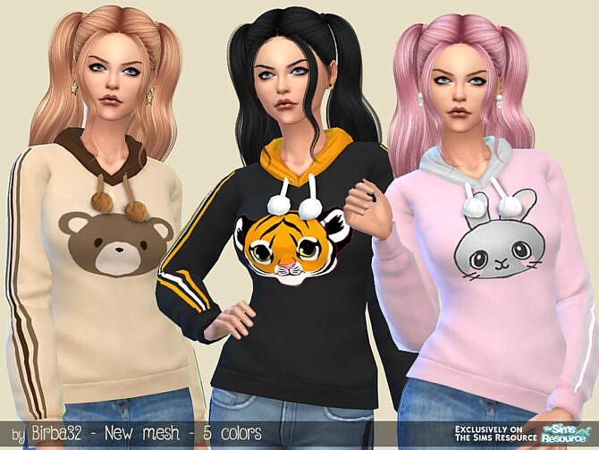Sims 4 Zoo hoodie by Birba32 at TSR