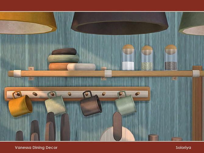 Sims 4 Vanessa Dining Decor by soloriya at TSR