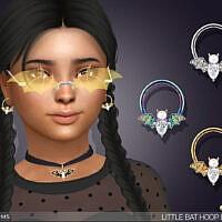 Little Bat Hoop Earrings For Kids By Feyona