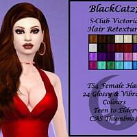 S-club Victoria Hair Retexture By Blackcat27
