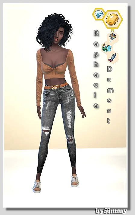 Sims 4 Raphaela Dumont by Simmy at All 4 Sims