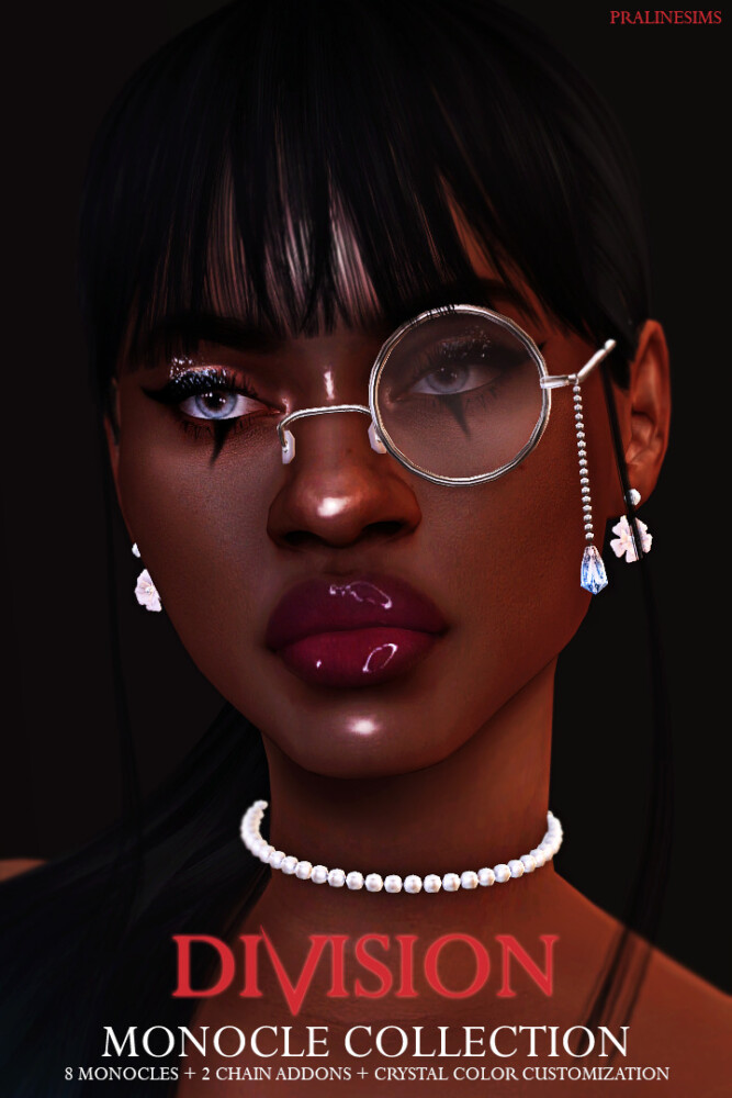 Sims 4 DIVISION Monocle Collection at Praline Sims