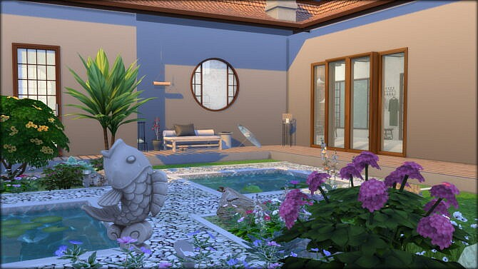 Sims 4 Waterfall Creek small house at DOMICILE HOME TS4