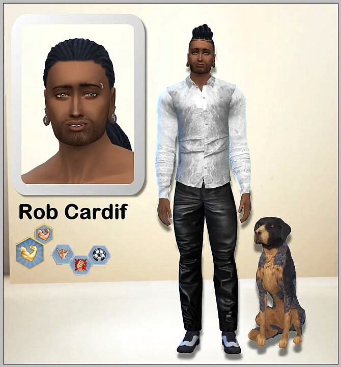 Sims 4 Rob Cardif & Barkley by Simmy at All 4 Sims