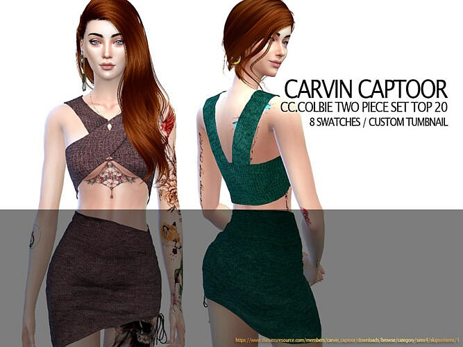 Colbie Two Piece Set Top By Carvin Captoor