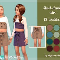Short Denim Skirt By Mysteriousoo