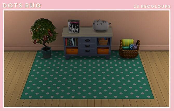 Sims 4 Dots rug at Midnightskysims