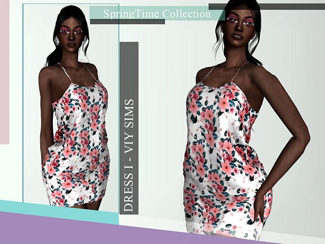 Sims 4 SpringTime Collection Dress I by Viy Sims at TSR