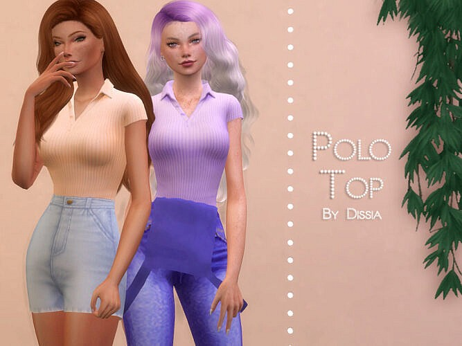 Polo Top By Dissia