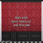 Wall With Doric Wainscot And Brocade By Thejim07