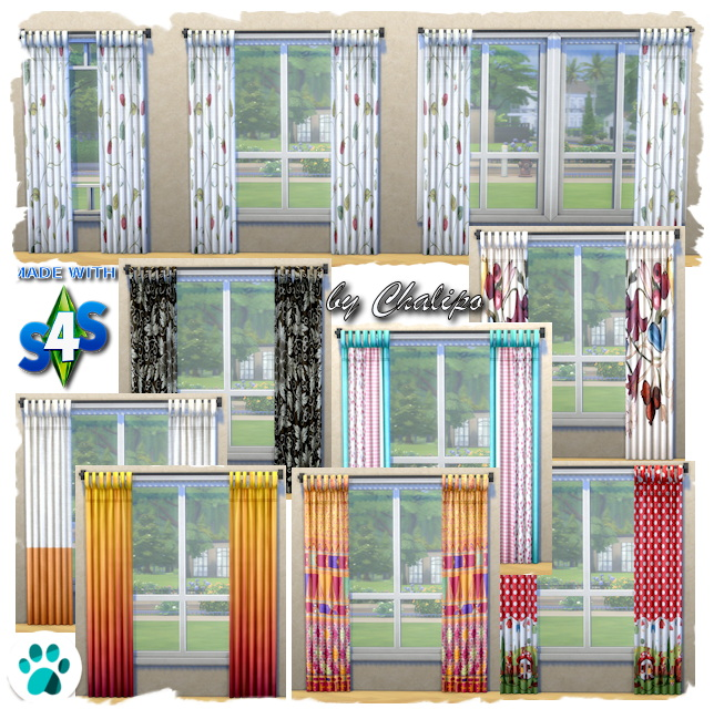 Sims 4 Curtains Pets by Chalipo at All 4 Sims