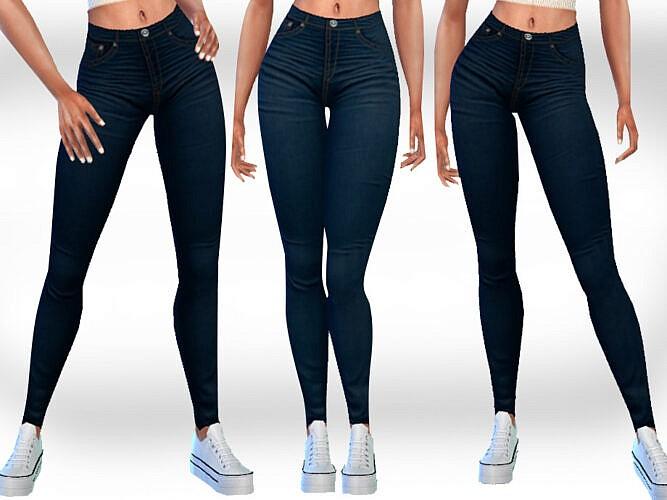 Dark Blue Jeans By Saliwa