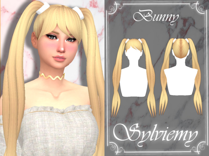 Sims 4 Bunny Hairstyle by Sylviemy at TSR