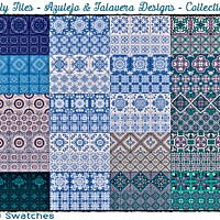 Totally Tiles Azulejo & Talavera Collection #1 By Wykkyd
