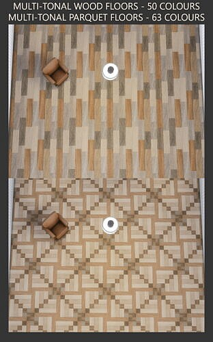 Multi-tonal Wood And Parquet Floors By Simmiller